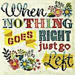 Click for more details of Just Go Left (cross stitch) by Tiny Modernist