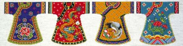 Click for more details of Kimono Row (cross stitch) by Design Works