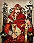 Click for more details of King Arthur (cross stitch) by Nimue Fee Main