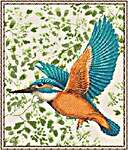 Click for more details of Kingfisher (cross stitch) by DoodleCraft Design