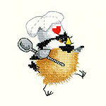 Click for more details of Kitchen Chick (cross stitch) by Valerie Pfeiffer
