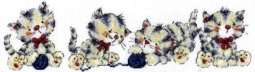 Click for more details of Kitty Row (cross stitch) by Design Works