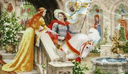 Click for more details of Knight in Shining Armour (cross stitch) by Golden Fleece