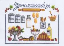 Click for more details of La Gourmandise  (Just Desserts) (cross stitch) by Marie Coeur