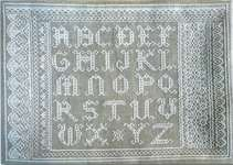 Click for more details of Lace Alphabet Sampler (cross stitch) by Agnes Delage-Calvet