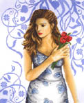 Click for more details of Lady in Blue (cross-stitch kit) by Lanarte