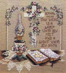 Click for more details of Lamp unto my Feet (cross stitch) by Stoney Creek