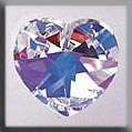 Click for more details of Large Crystal Heart Treasure (beads and treasures) by Mill Hill
