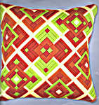 Click for more details of Large Diamond Cushion Front (tapestry) by Vervaco