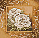 Click for more details of Large Roses in Sepia (cross-stitch kit) by Lanarte