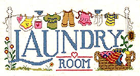 Click for more details of Laundry Room (cross stitch) by Imaginating