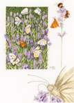 Click for more details of Lavender Field & Butterfly (cross stitch) by Marjolein Bastin