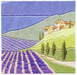Click for more details of Lavender Fields (long-stitch) by Rose Swalwell