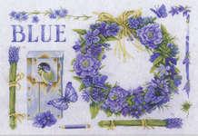 Lavender Wreath and Blue Tit