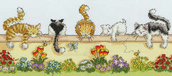 Click for more details of Lazy Cats (cross stitch) by Bothy Threads