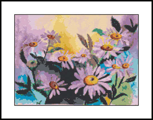 Click for more details of Lazy Daisies Watercolor cross stitch pattern (cross-stitch pattern) by Mary Gaines
