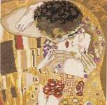 Click for more details of Le Baiser   (The Kiss after Klimt) (cross stitch) by Princesse