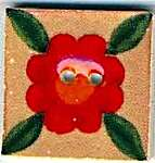 Click for more details of Leafy Red Bloom Button (beads and treasures) by Mill Hill