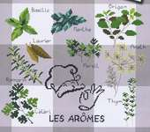 Click for more details of Les Arômes (Herbs) (cross stitch) by Marie Coeur