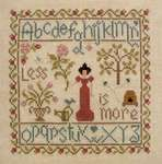 Click for more details of Less is More (cross stitch) by Jardin Prive