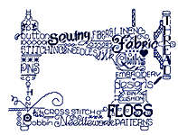 Click for more details of Let's Sew (cross-stitch pattern) by Imaginating