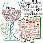 Click for more details of Let's Share Wine and Cheese (cross stitch) by Imaginating