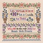 Click for more details of Let Virtue be a Guide to Thee (cross stitch) by Janlynn