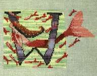 Click for more details of Letters from Mermaids - W (cross stitch) by Nora Corbett