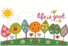 Click for more details of Life is Good (cross stitch) by DMC Creative