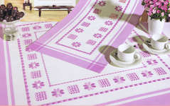 Click for more details of Lilac Hardanger Daisies Table Toppers (hardanger kit) by Rico Design
