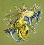 Click for more details of Lilly of the Woods - the Dreaming Fairy (cross stitch) by Mirabilia Designs
