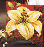 Click for more details of Lily Cushion Front (tapestry) by Vervaco