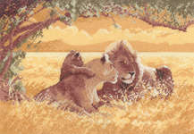 Click for more details of Lions (cross stitch) by John Clayton