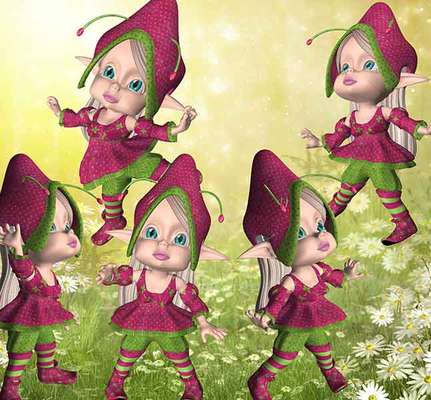 Click for more details of Little Pixies (digital downloads) by DawnsDesigns