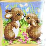 Click for more details of Little Rabbits Cushion Front (tapestry) by Vervaco