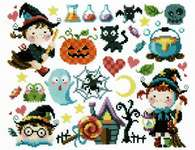 Click for more details of Little Witches (cross stitch) by Soda Stitch