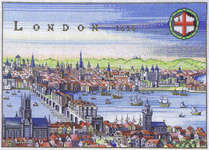 Click for more details of London 1616 (cross stitch) by Eva Rosenstand