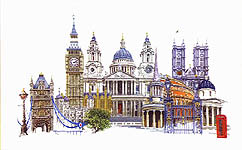 Click for more details of London (cross stitch) by Thea Gouverneur
