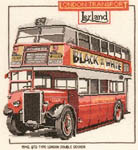 Click for more details of London Double Decker Bus (cross-stitch kit) by Dave Shaw