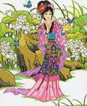 Click for more details of Lotus Garden (cross stitch) by Kustom Krafts
