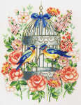 Click for more details of Love Birds (cross-stitch kit) by Vervaco