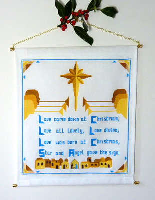 Click for more details of Love came down at Christmas (cross stitch) by Anne Peden