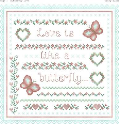 Click for more details of Love is Like a Butterfly (cross stitch) by Designs by Cathy