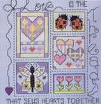 Click for more details of Love is the Thread (cross stitch) by Janlynn