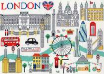 Click for more details of Love London (cross stitch) by Bothy Threads