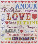 Click for more details of Love Sampler (cross stitch) by Anchor