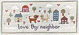 Click for more details of Love Thy Neighbor (cross stitch) by Sweet Wing Studio