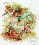 Click for more details of Lovers' Picnic (cross-stitch kit) by Lanarte