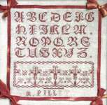 Click for more details of M. Pillet An Antique French Sampler (cross stitch) by Kathy Barrick