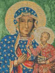 Click for more details of Madonna Of Czestochowa (cross stitch) by Thea Gouverneur